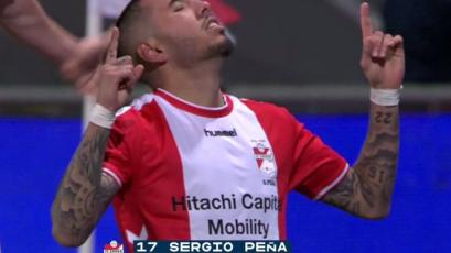 Sergio Peña jugó el mejor partido de su vida: hat trick de asistencias y un golazo para FC Emmen (VIDEO)