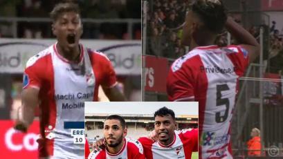 Holanda: Miguel Araujo convirtió su primer gol con FC Emmen tras un pase de Sergio Peña (VIDEO)
