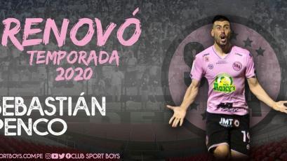 Sport Boys: Sebastián Penco renovó por todo el 2020 y seguirá en el club