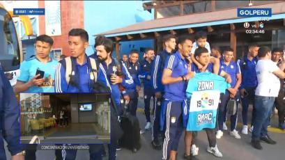Hinchas de Sporting Cristal acompañaron al plantel antes de la partida al Monumental