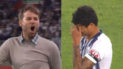 Sporting Cristal: el efusivo festejo de Manuel Barreto por el gol celeste en el Nacional (VIDEO)