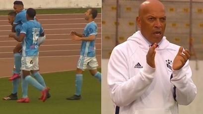 Sporting Cristal: Roberto Mosquera explotó en aplausos tras el gol de Emanuel Herrera (VIDEO)