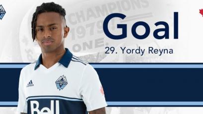 Yordy Reyna anotó un nuevo gol con el Vancouver Whitecaps en la MLS