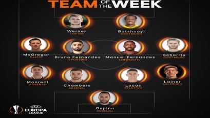 Europa League: este es el equipo de la semana
