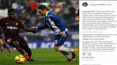 Sergio García se disculpó tras insultar a Samuel Umtiti
