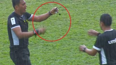 Unión Comercio vs Alianza Universidad: impresionante lluvia malogró los audífonos del árbitro