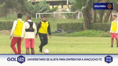 Universitario y el segundo día de entrenamiento de cara al partido ante Ayacucho F.C