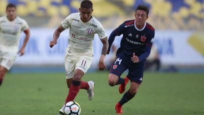 Universitario perdió con la U. de Chile en el inicio de su gira