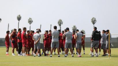 Universitario sigue preparándose con miras al partido ante Sport Boys