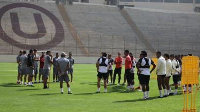 Universitario de Deportes quedó listo para enfrentar a Sport Huancayo