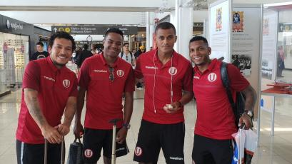 Universitario de Deportes llegó a Concepción para disputar sus partidos amistosos