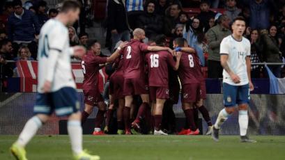 Venezuela venció 3-1 a Argentina con Lionel Messi los 90 minutos (VIDEO)