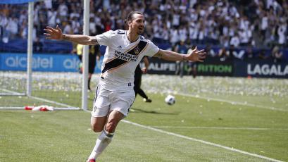 Zlatan Ibrahimovic debuta con un doblete en el LA Galaxy